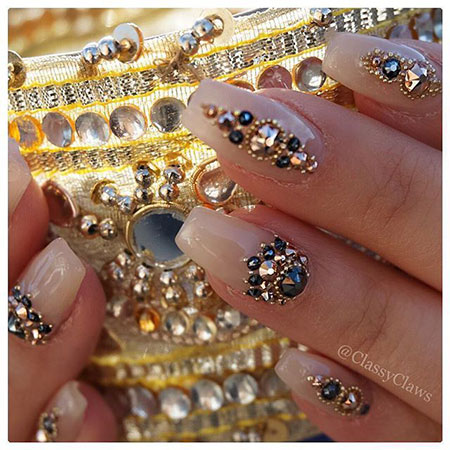 Indian Nail Design, Indian Design Bridal