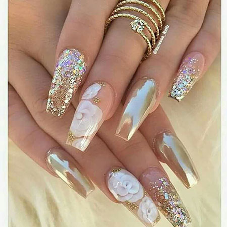 Long Nail Design, Long Wedding Acrylic Designs