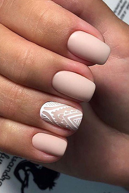 Nail Design for Brides, Design Manicure Pink Bride