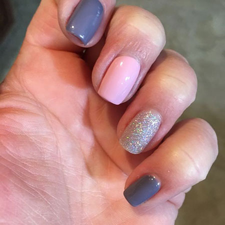 Simple Nail Design for Short Nails, Manicure Gel Full Nice