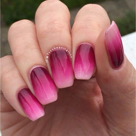 Ombre Pink Polish Design
