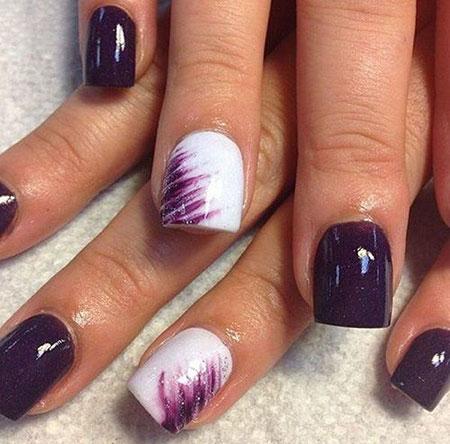 Purple Short Dark White