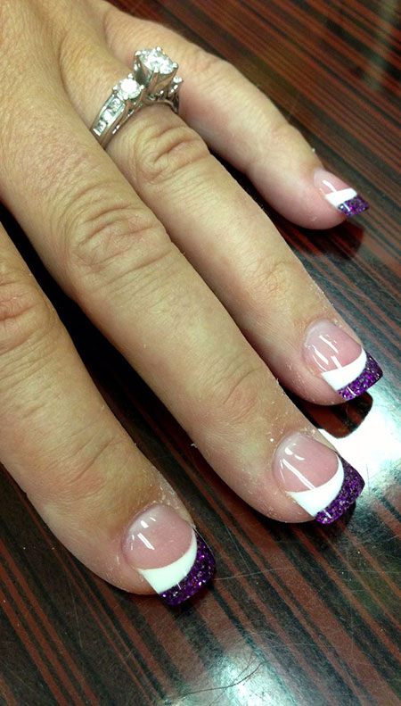 Purple Acrylic Pink Ideas