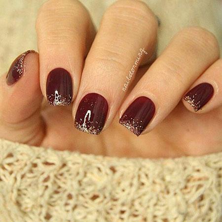 Glitter Design Manicure Gold