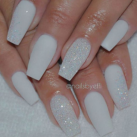 Glitter Matte White Diamond