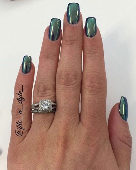 Green Knuckle Style Acrylic