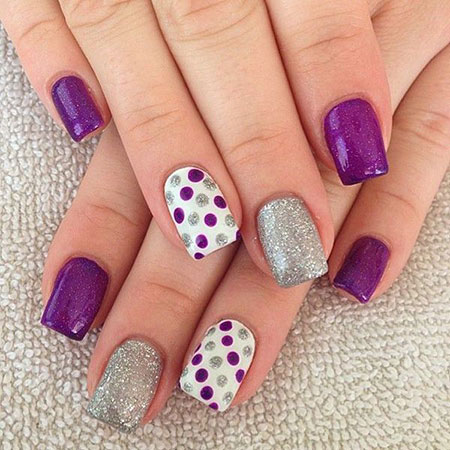 Purple Dots Polka Dot