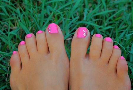 Toenail Cute Summer Toe
