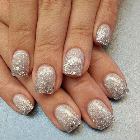 Glitter Silver Polish Shape