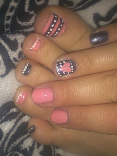 Cute Love Girl Toenail