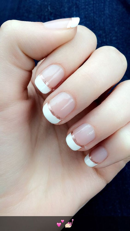 Manicure French Rose Gold