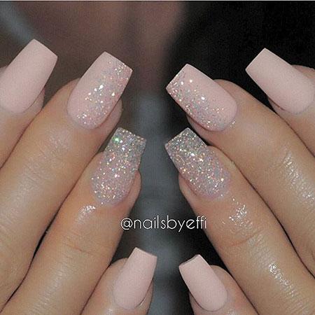 Acrylic Glitter Love Nude