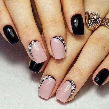 Easy Short Nail Art, Design Manicure Full Short