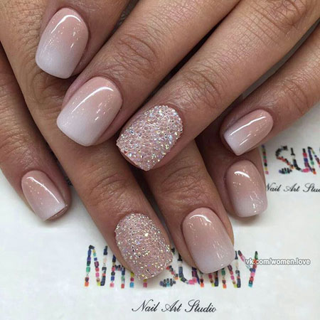 Short Wedding Nail Art, Short Wedding Gel Manicure