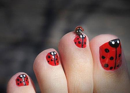 Ladybug Toe Lady Toenail