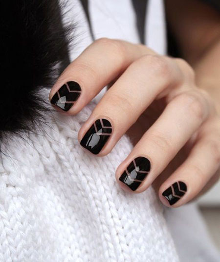 Black Geometric Gel Ideas
