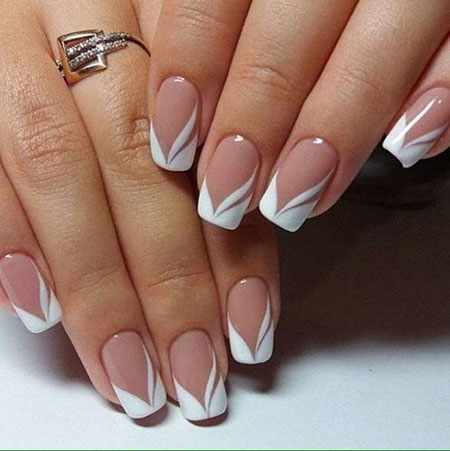 French Manicure Wedding Design