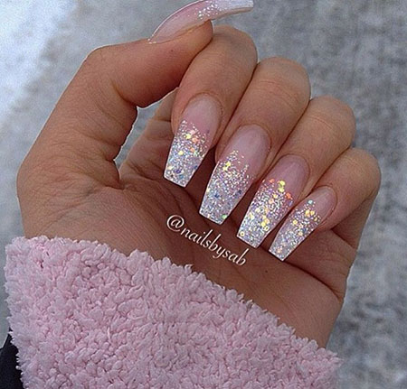 Ombre Coffin Glitter Long