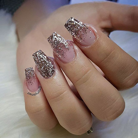 Glitter Rose Gold Ombre
