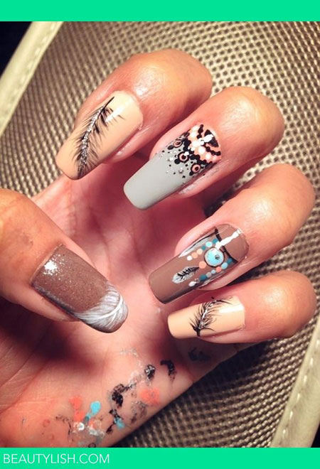 Indian Inspired Colorful Nail Designs, Indian Photo American Inspired