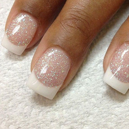 Sparkle Nails with French Manicure, French Manicure Glitter Sparkle