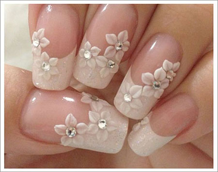 Floral Gel Nails for Brides, Brides Fast Trend Ideas