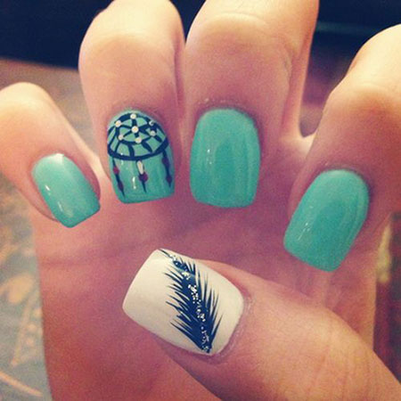Dream Catcher Nail Design, Catcher Dream Cute Trends