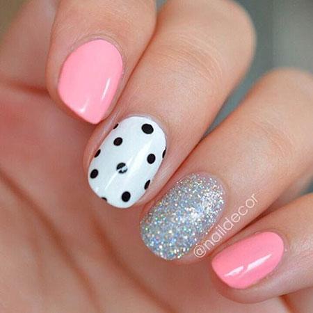 Easy Polka Dots on Nails, Dot Dots Polka Fun