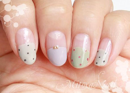 Easy Japanese Nail Art, Japanese Different Collection Dot