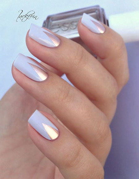 Chrome Nails for Wedding, Polish Manicure Soft Love
