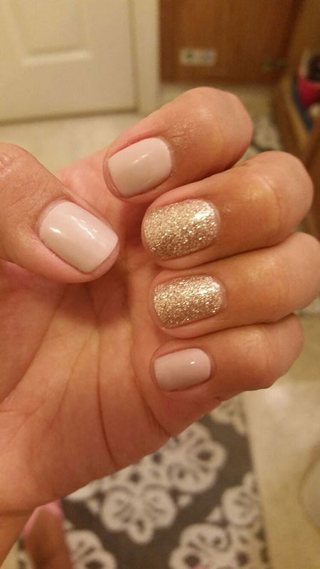 Golden Glitters, Manicure Ideas Summer Full