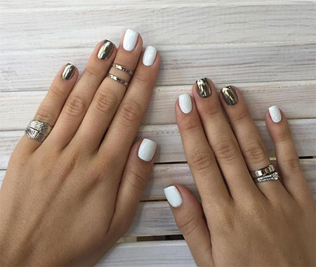 Cute Short Nail Design, Short White Cute Ideas