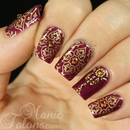 Indian Stamping Mani Manicure