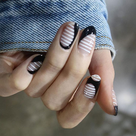 White Striped Opi Design