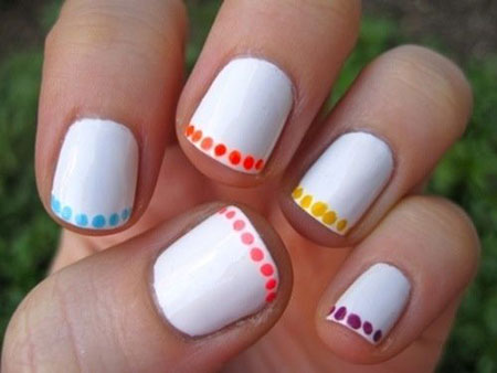 Short Easy White Manicure
