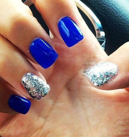 Blue Glitter March Style