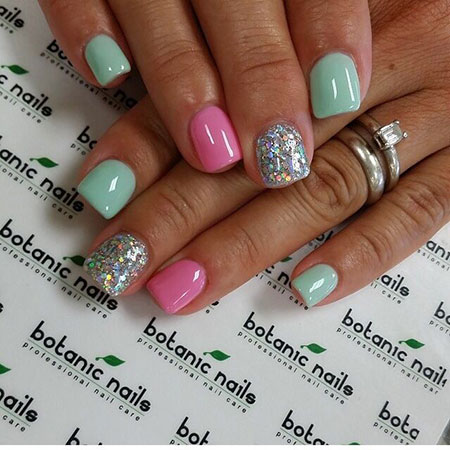 Pink Green Glitter Ideas