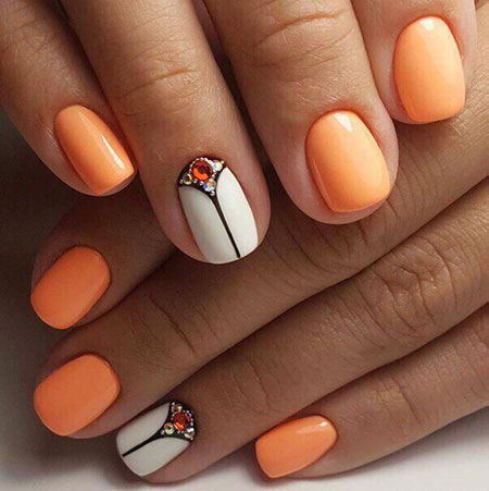 Short Manicure Design Thin