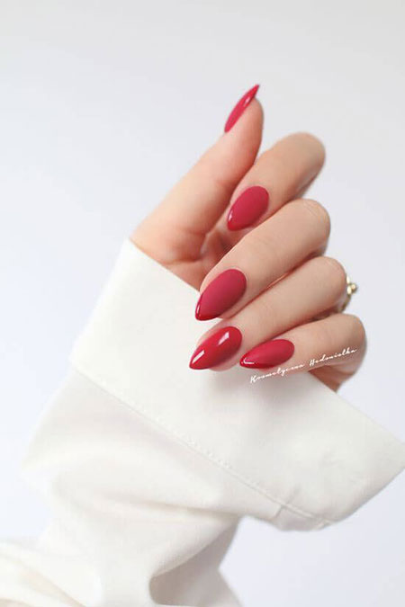 Manicure Red Trendy Acrylic