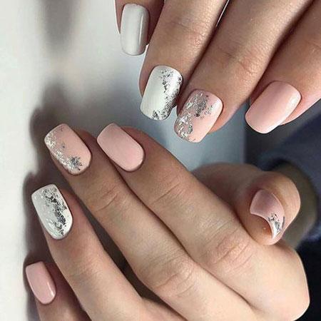 Short Squoval Nail Design, Manicure Design Best Trending