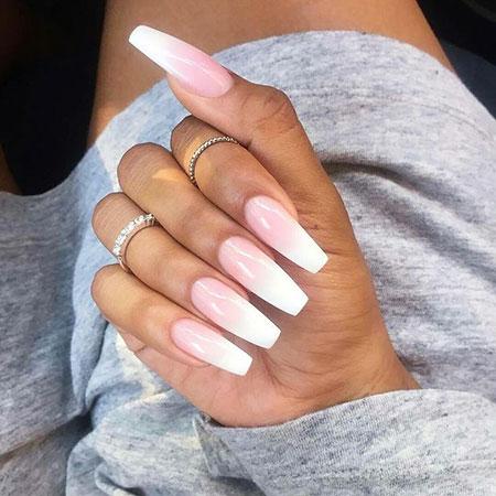 Ombre White Nails, Ombre Acrylic White Claw