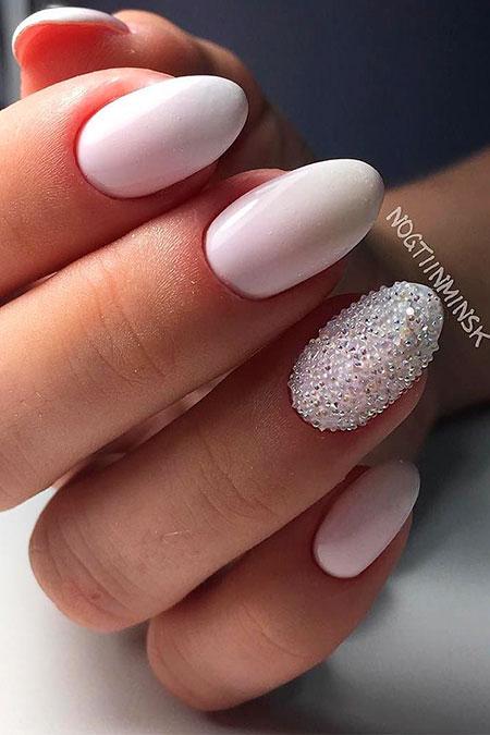 Wedding Nail Idea, Elegant Wedding Manicure Ideas
