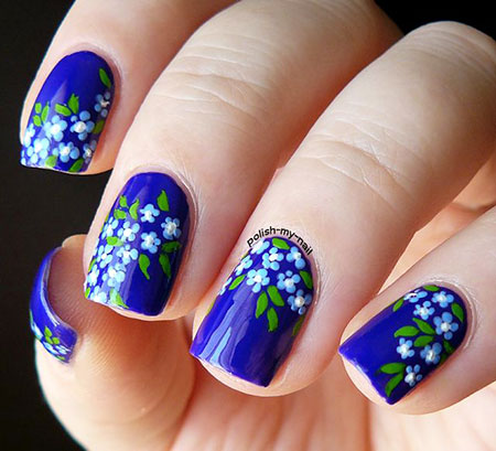 Flowers Manicure Simple Polish