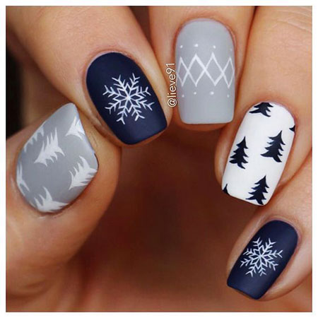 Manicure New Winter Inspired
