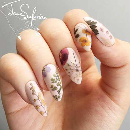 Manicure Water Decals Flowers