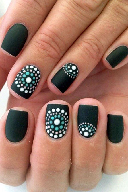 Dot Mint Brown Matte