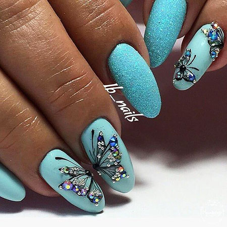 Manicure Ideas Spring Butterfly