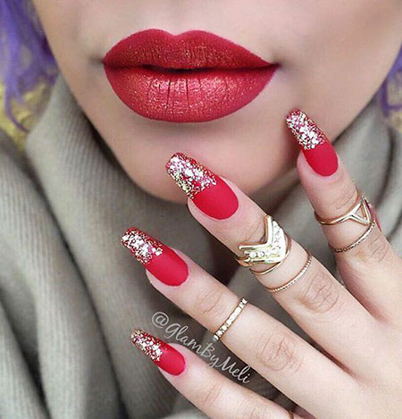 25 Red And Silver Nails Nail Art Designs 2018