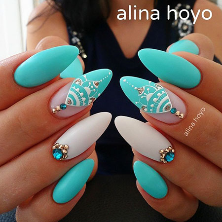 Blue Manicure Pink Wedding