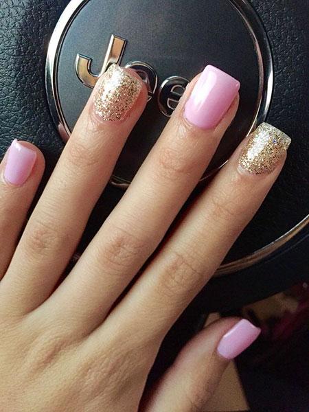 Gold Glitter Pink White